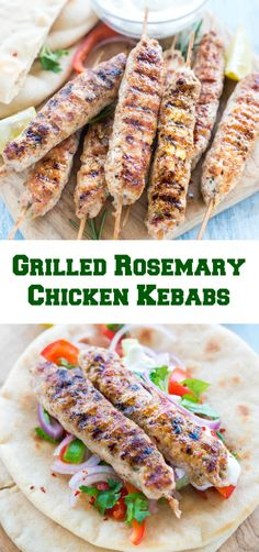 Grilled Rosemary Chicken Kebabs are great as an appetizer and perfect for outdoor summer grilling. There is lemon,rosemary,cumin that makes it flavorful.