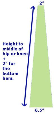 How to Make Bellbottom Pants: Measure the Panel Fabric