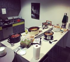 The calm before the chili storm. This lunchtime team #musicnotes took part in the annual chili cook off. 7 employee entries all very very tasty and vying for the no.1 position. Winner TBA... Stay tuned.  #behindthescenes #sheetmusic #music #team #office #webstagram #igers #food #chili #cook #chef #cheflife #cooking #madisonwi  by musicnotescom