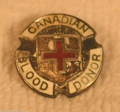 vintage Sterling Canadian Red Cross Blood Donor