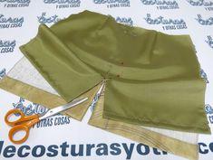 Esta es la primera de tres entradas sobre maneras de forrar una falda con abertura, y empiezo por la abertura sencilla. Tomo como ejemplo una falda recta con costura central trasera de margen ancho. P