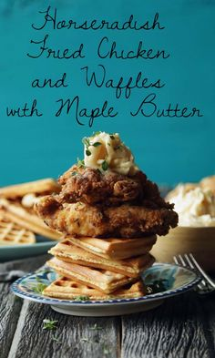 Try this delicious twist on a classic in this amazing recipe for Horseradish Fried Chicken and Waffles with Maple Butter from @ChefBillyParisi