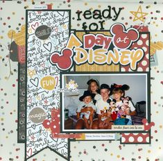 Ready for a day at Disney - Scrapbook.com