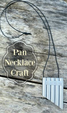 Easy Pan Necklace Craft by Celebrating Family