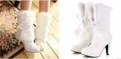 Accessoires mariage d'hiver bottines ... can you say adorable?!