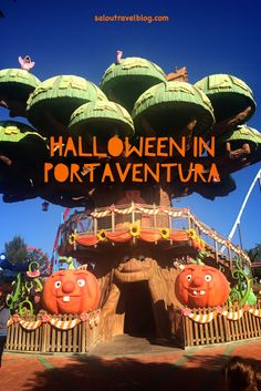 Looking for an exciting Halloween break this October or November? Look no further than PortAventura World in Salou. Salou Spain, Halloween Themes, Places To Travel, September, Weather, Jacket, Park, Night, World