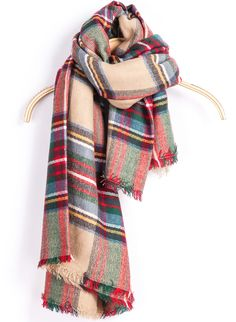 Pretty plaid blanket scarf #FallFaves