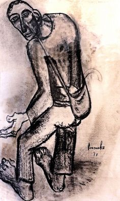 1931 Constant Permeke (Belgian, 1886-1952) was a Belgian painter and sculptor who is considered the leading figure of Flemish expressionism.