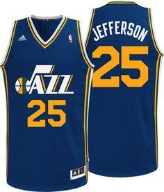 db5c02cde Utah Jazz Al Jefferson 25 Blue Authentic Jersey Sale ...