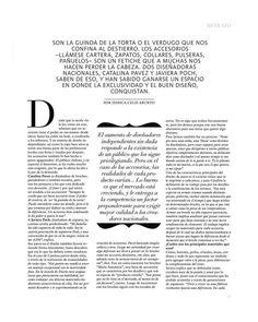 Reportaje Revista Bazar ED / 3 de Abril 2014.