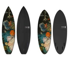 Renowned for their custom skateboards, Boom-Art in collaboration with UWL Surfboards has created a series of collector surfboards which model the still life and landscape master Jan Van Huysum(1682-1749).  Each is handmade in France and numbered. Specifications: Classic Length: 6'1 x 19″ x 2.35″ Ripper Length: 5.4′ x 20.5″ x 2.5′ Polyester resin / hand …