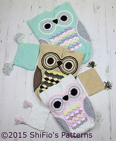 Ravelry: 245- Owl Cocoon Baby Crochet Pattern #245 pattern by ShiFio's Patterns