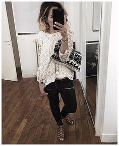WEBSTA @ audreylombard - Sandales Et tous les liens directs de la tenue avec la veste Camel sont sur le blog --> audreylbd.com• Jewels #feidtparis (from @feidtparis)• Clutch #starmela (from @labrandboutique)• Lace top #swildens (from @swildens_fr)• Leather Pant #raiine (from @raiine_official)• Sandals #sezane (from @Sezane)...