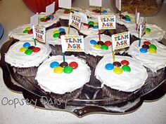 There are some other Olympic party ideas at this site but they are mostly for winter Olympics. These cupcakes look great and so easy to make that I had to share! Olympic Idea, Olympic Games, Olympic Colors, Olympic Crafts, Themed Cupcakes, Party Cupcakes, Birthday Cupcakes, Pinterest Crafts, Winter Olympics