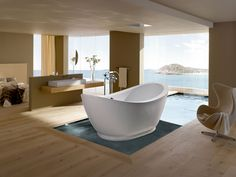 Beautiful freestanding tub.  No idea how much this one costs but at least now I think I have an idea of what style I'd like. (Purescape 148)