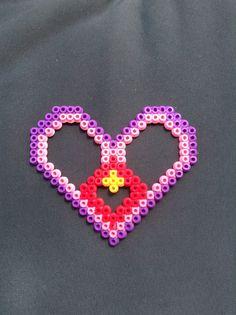 Perler bead best friend heart