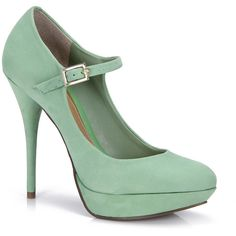 Dumond Shoes in Green found on Polyvore featuring polyvore, women's fashion, shoes, pumps, heels, sapatos, zapatos, green pumps, dumond and heel pump