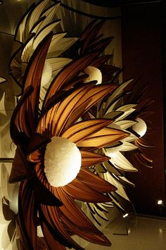 Chocolate Flowers by jen.bigelow, via Flickr...abstract chocolate sculpture