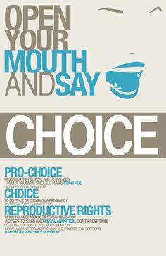 Pro-Choice Logo | Social Awareness Typography Poster: Pro-Choice