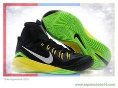 free shipping 0c82e c05d8 tenis de marca barato Preto Grass   Verde Amarelo Nike Hyperdunk 2014  653640-033. Calzado Air JordanZapatos ...
