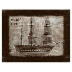 I pinned this Vintage Boat Wall Art from the Accents Under $100 event at Joss and Main!