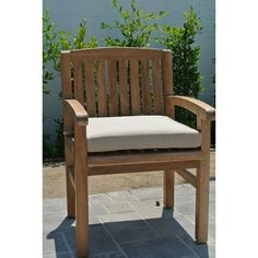 Willow Creek Huntington Teak Outdoor Dining Chair with Arms