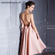 sexy backless vestidos  pink bubble spaghetti strap short party girl dress  6356