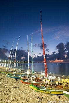 Praia de Pajuçara, Maceió, Alagoas..Pajuçara Beach, Maceio Municipality, Alagoas State, Northeast of Brazil