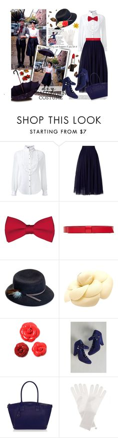 """""""DIY Halloween Costume:Mary Poppins with Keiko Lynn"""" by bamaannie ❤ liked on Polyvore featuring moda, Tiffany & Co., Loveless, Ted Baker, Marni, Justine Hats, Chanel, Bettie Page, Kate Spade e Jardin des Orangers"""