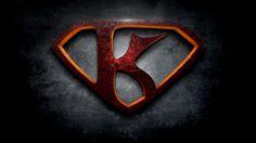 "The letter K in the style of ""Man of Steel"" - Beloeil-Jones"