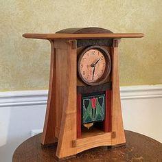 Ashley Craftsman Clock, by Patrick Ashley Craftsman Clocks, Craftsman Furniture, Craftsman Kitchen, Craftsman Style, Unique Clocks, Cool Clocks, Wooden Clock Kits, Walnut Burl, Unique Furniture