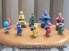 The 5 Mech units join the rest of my papercraft Advance Wars army! ;o) http://ninjatoes.wordpress.com/category/advance-wars/