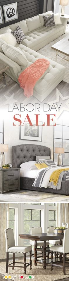 Ready for a room redesign? Shop our Labor Day sale now, and save on furniture for the bedroom, living room and dining room! Hurry before the best deals of the year are gone!