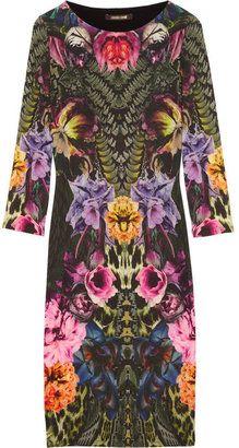 ShopStyle: Roberto Cavalli Printed wool-blend jersey dress