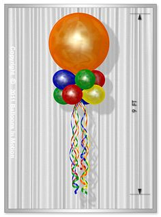 This double stacked Balloon Bouquet is made of 6 - Latex Balloons & 1 - Latex Balloon Kite Decoration, Balloon Decorations, Balloon Ceiling, Balloon Columns, Floating Balloons, Balloon Delivery, Ideas Para Fiestas, Balloon Bouquet, Latex Balloons