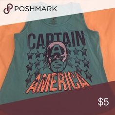 Captain America tank Never worn. Captain America tank. Mighty Fine Tops Muscle Tees