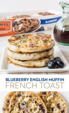 Blueberry English Muffin French Toast: Blueberry French toast meets Nooks and Crannies perfection. Just dip Thomas' Blueberry English Muffins in a vanilla egg batter, toast 'em up on the griddle and top with syrup for a crunchier take on a classic.