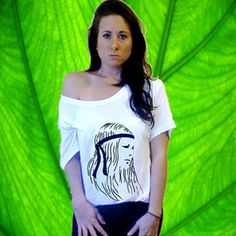 New Hippy Chick Print on Slouchy Tee by UrbanLeafClothing on Etsy, $25.00