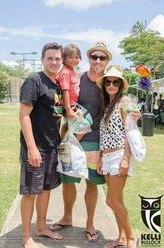 Alex O'Loughlin and family May 2013 - Saxon, Spike, Malia