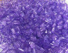 7x3.4mm Sol Gel Transparent Purple Czech Glass by beadsandbabble, $2.99