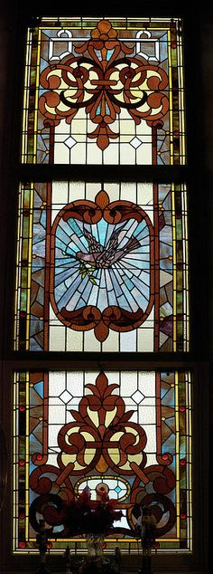 Art Nouveau Stained Glass Window