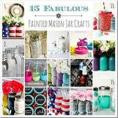 15+ Painted Mason Jar Crafts - Mason Jar Crafts Love