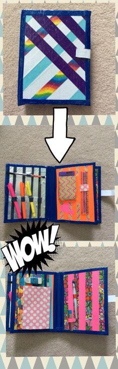Duct tape binder/pencil book made By Jordyn Reisch