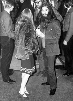George and Pattie with Mal Evans