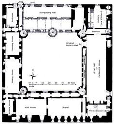 Blenheim Palace First Floor Plan C 1860 Before