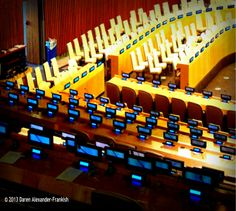 """United Nations, New York, USA """"Who paid for this?"""""""