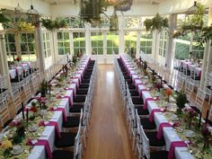 The beautiful conservatory at Gabbinbar Homestead in Toowoomba, Qld, Australia. Styled by Sweet Stella for the Carnival of Flowers Mayoral Champagne Breakfast.