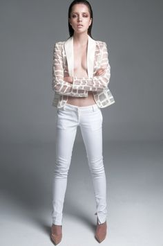Androgynous see through SO STYLISH jacket Anna Veneti S/S collection