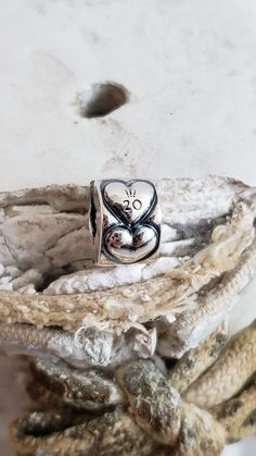 Authentic Pandora Heart Clip 20th Anniversary September Collector Charm Marked S925 ALE Sterling Certificate of Authenticity NWOT #799006COO Pandora Heart Charm, Pandora Bangle, Pandora Hearts, Pandora Jewelry, Pandora Anniversary Charm, 20th Birthday, Love Charms, Leaf Clover, 20th Anniversary
