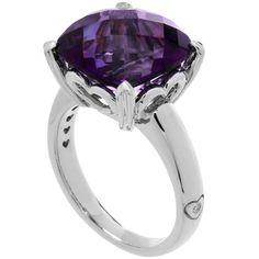 7 Carat Sterling Silver Amethyst Ring
